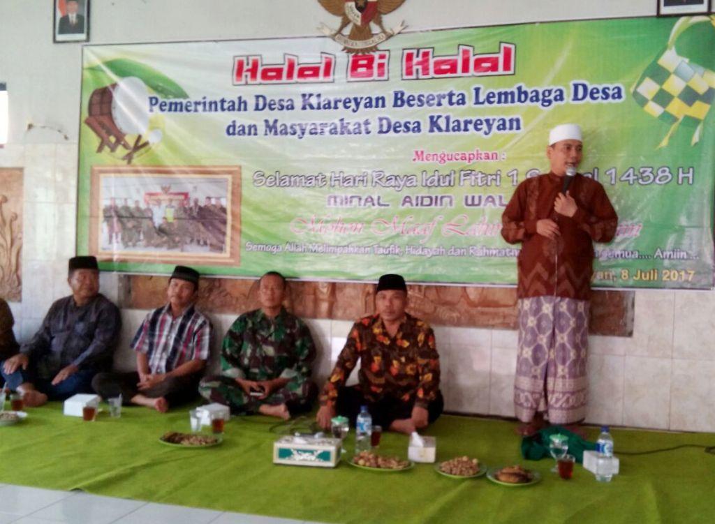 Pemdes Klareyan Adakan Halal Bihalal